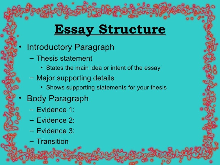 Exceptional Structure Of Essays For English Mediafiles