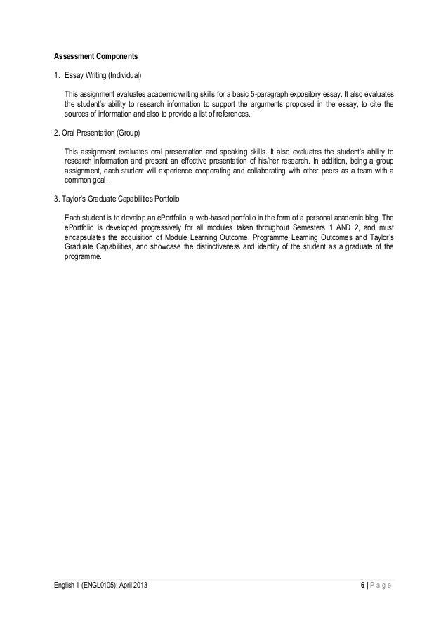 english module outline  6