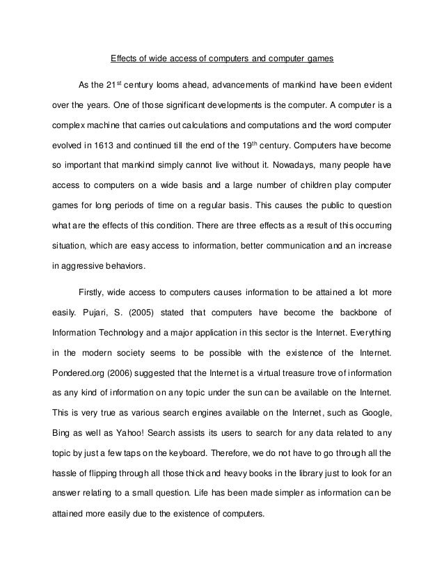 importance of computer education essay wikipedia