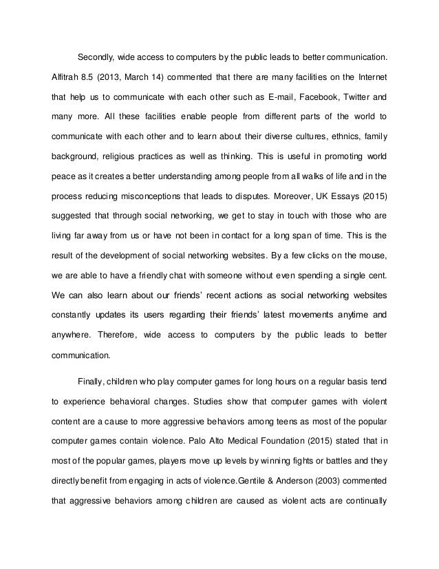 essay on computer with headings