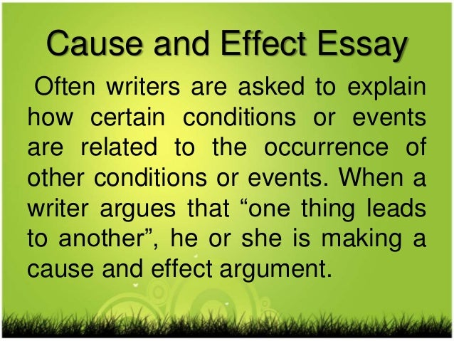 cause and effect essay weather Category: environment global warming climate change title: global warming essay: environmental effects we must first learn what causes the greenhouse effect.