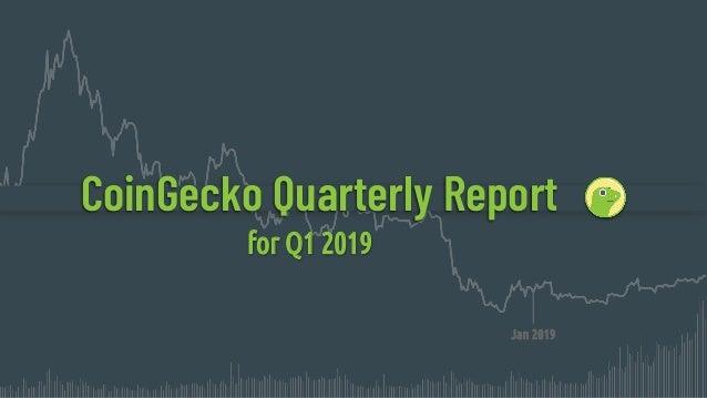 CoinGecko Quarterly Report for Q1 2019 Jan 2019