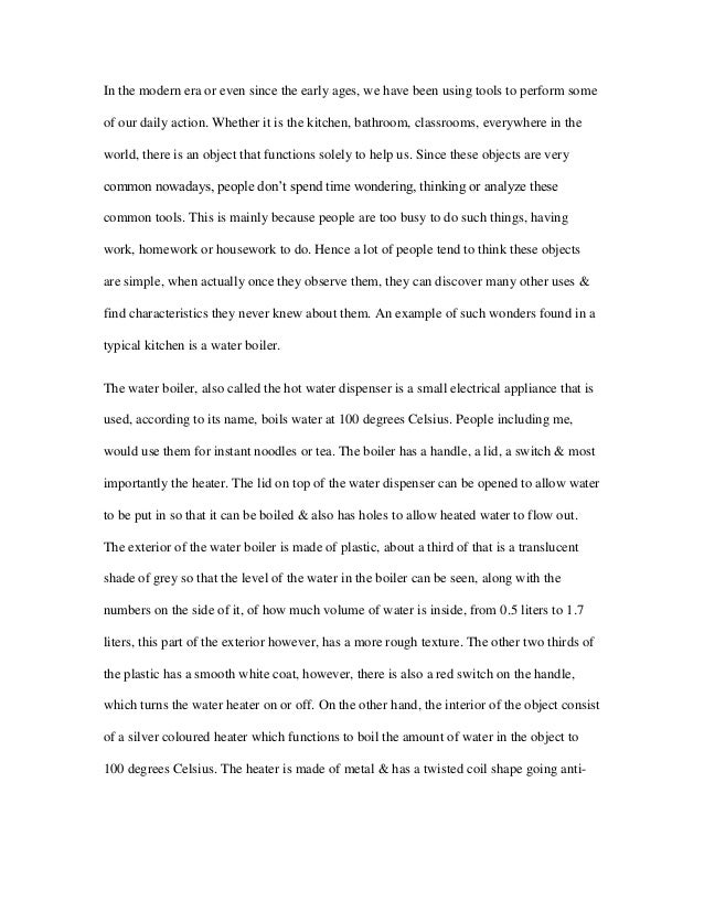 english descriptive essay