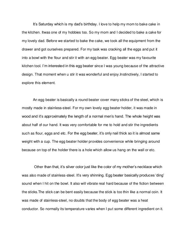 Essay Writing Examples English English  Narrative Essay Its Saturday Which Is My Dads Birthday I Love  To Help My Mom To Bake  Sample Thesis Essay with Friendship Essay In English English  Narrative Essay High School Essays - 831485903822