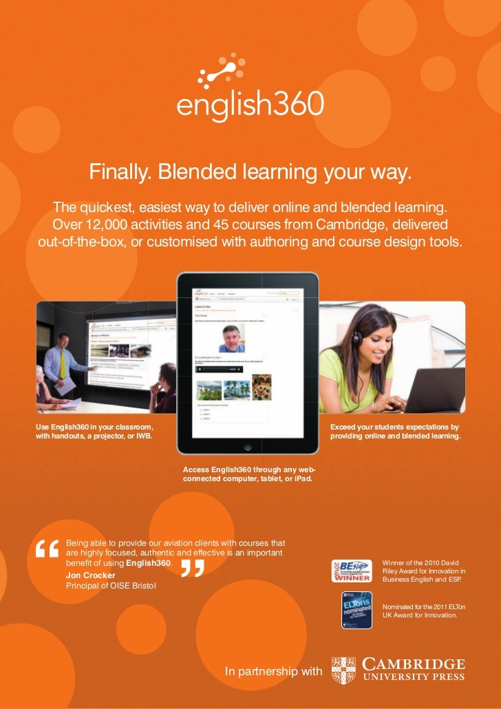 Finally. Blended learning your way.  The quickest, easiest way to deliver online and blended learning.  Over 12,000 activi...