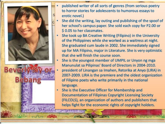 philippine literature in english essay The literary forms in philippine literature by: the essay in english became a potent medium saw the flourishing of philippine literature in english at the.