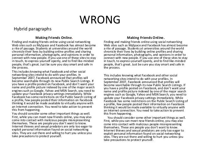 english the paragraph essay  3 wrong making