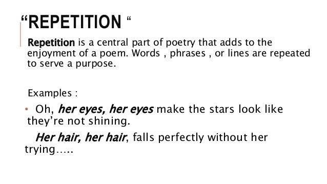 English 6 Repetition
