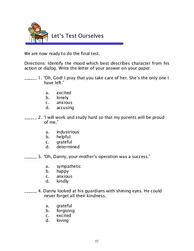 English 6 dlp 37 inferring traits and character – Identifying Character Traits Worksheet