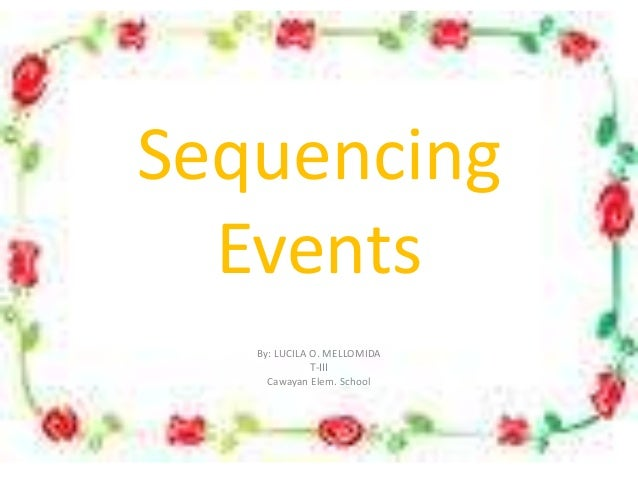 Sequence Of Events Ppt