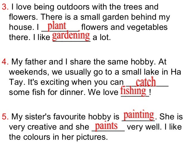 hobbies examples for dating