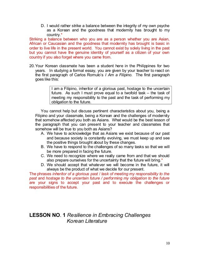 on discovering myself by serrano and lapid essay View notes - philippine-literature-manual-1-1 from college of lit1 at our lady of fatima university 2009077656section i - literature section i.