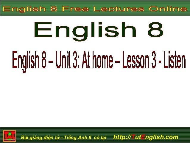 English In Italian: English 8 Unit 3 Lesson 3