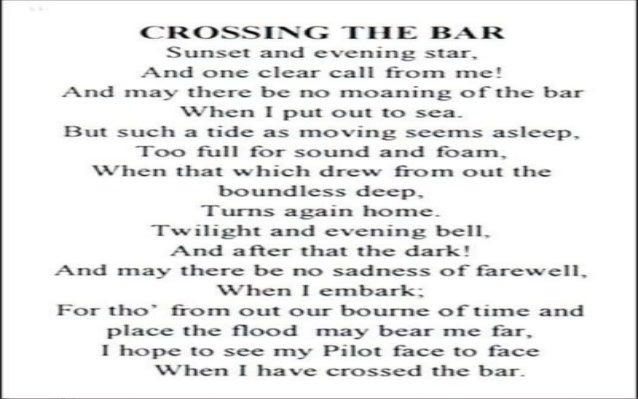 crossing the bar by alfred tennyson