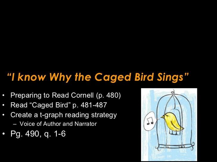 """ I know Why the Caged Bird Sings"" <ul><li>Preparing to Read Cornell (p. 480) </li></ul><ul><li>Read ""Caged Bird"" p. 481-4..."