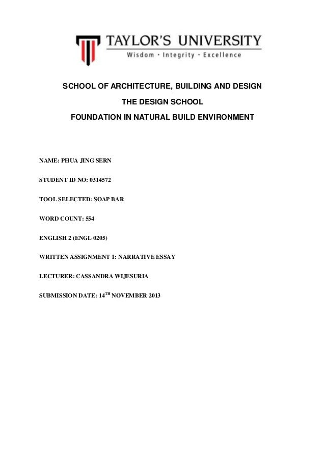 descriptive and narrative essay descriptive and narrative essay school of architecture building and design the design school foundation in natural build environment