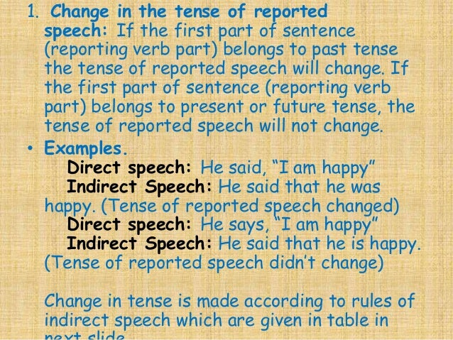 the reported speech rules pdf