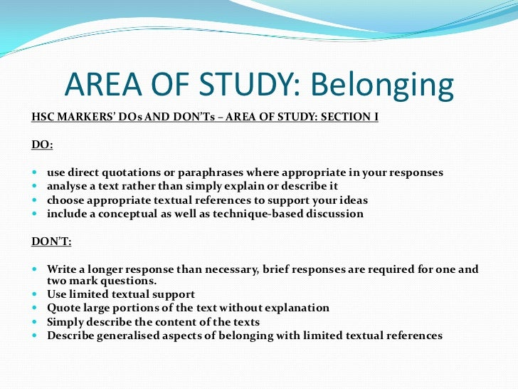 belonging related texts essay Sample hsc english essay-belonging true sense of not belonging and its related are two texts in which an exploration of belonging and its.