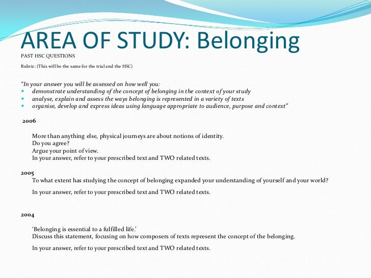 Concept of Belonging Exercise