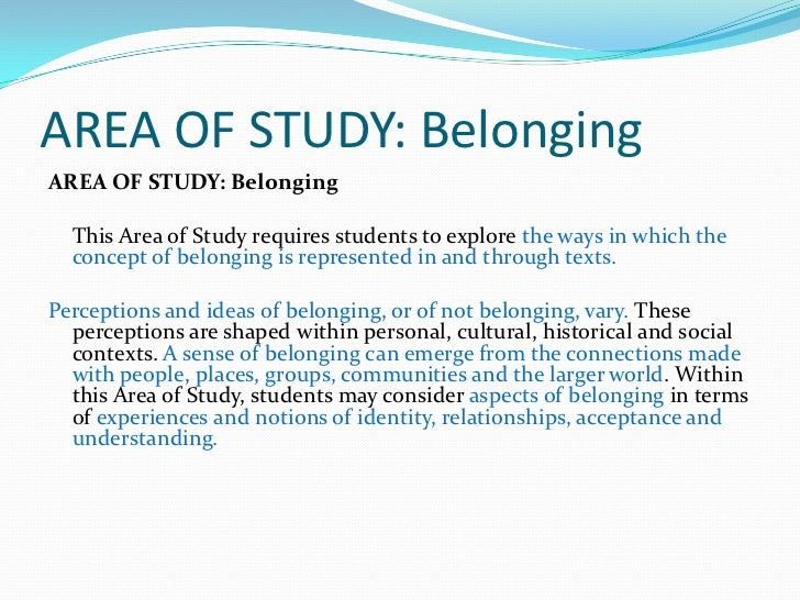 Explore how perceptions of belonging and not belonging can be influenced by connections to place