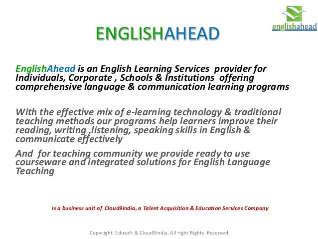 EnglishAhead Education Brief for Partnerships in India: Feb 2015