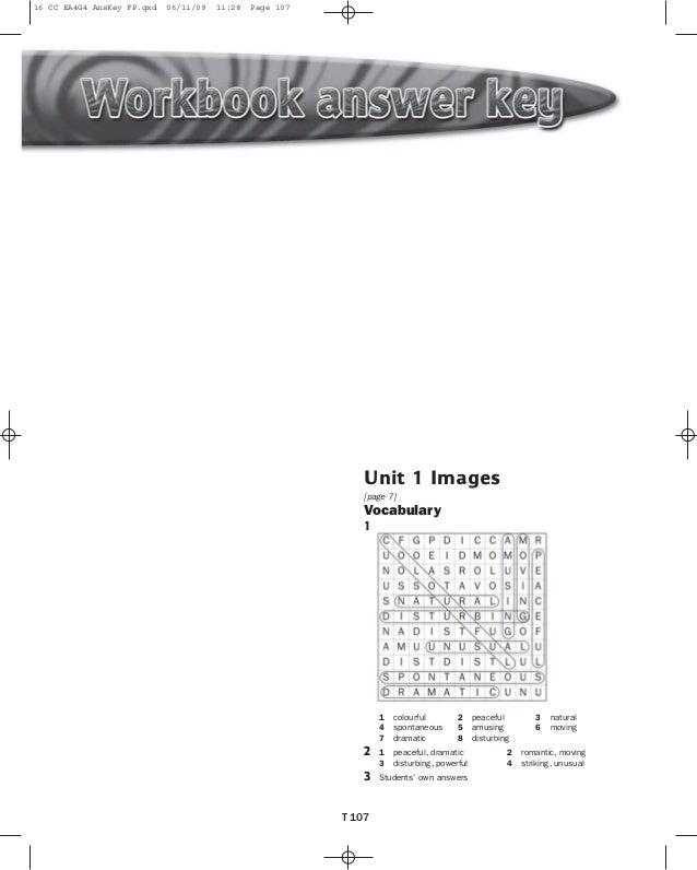 16 CC EA4G4 AnsKey FP.qxd  06/11/09  11:28  Page 107  Starter Unit  [page 6]  [page 3]  1  Practical English Revision  Voc...