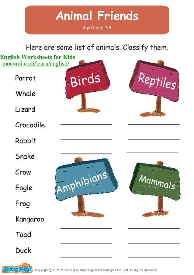 animal friends english worksheets for kids. Black Bedroom Furniture Sets. Home Design Ideas