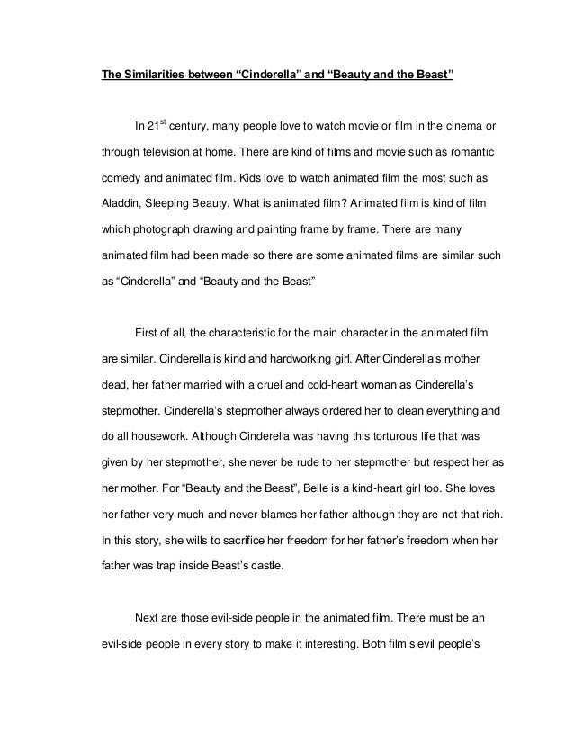 beauty and the beast story summary