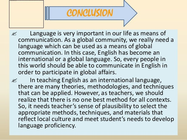 english global language English language is required in many fields and occupations, education ministries around the world order the teaching of english to at least a basic level.