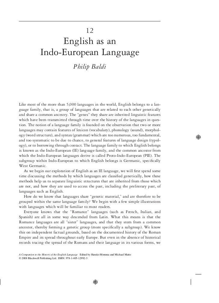 12                      English as an                 Indo-European Language                                            Ph...