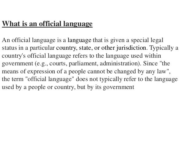 english the official language of the The missouri english official language amendment, also known as amendment  1, was on the november 4, 2008 ballot in missouri as a legislatively referred.