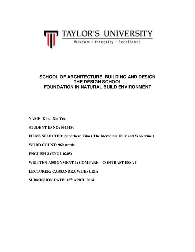 english assignment compare and contrast essay  compare and contrast essay school of architecture building and design the design school foundation in natural build environment