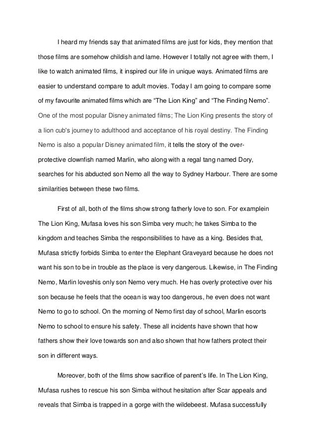 Comparecontrast essay for elementary