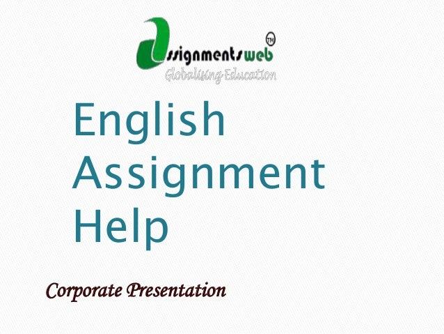 English Assignment Help Corporate Presentation