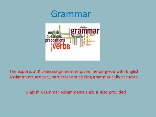 We provide English Assignment Help for following topics: