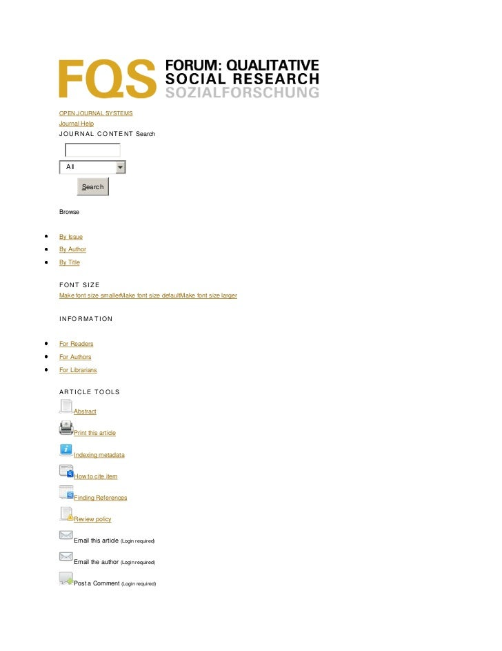 OPEN JOURNAL SYSTEMSJournal HelpJ O U R N A L C O N T E N T Search  All           SearchBrowseBy IssueBy AuthorBy TitleFON...