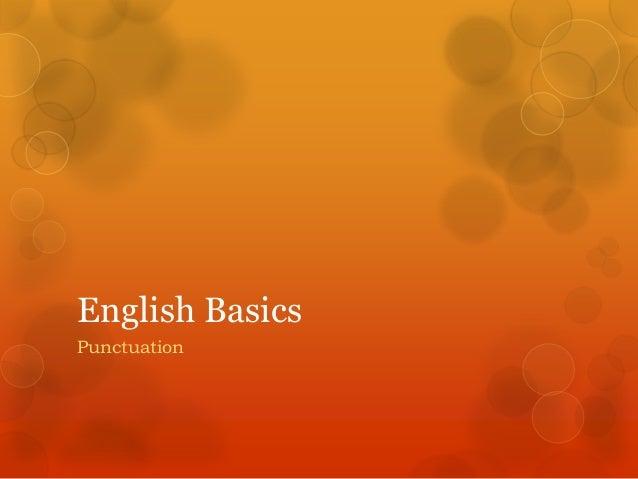 English Basics Punctuation