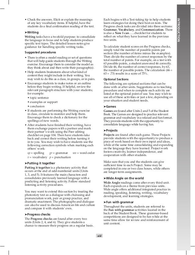 English book 4 teacher 15 xiii introduction check the answers fandeluxe Image collections