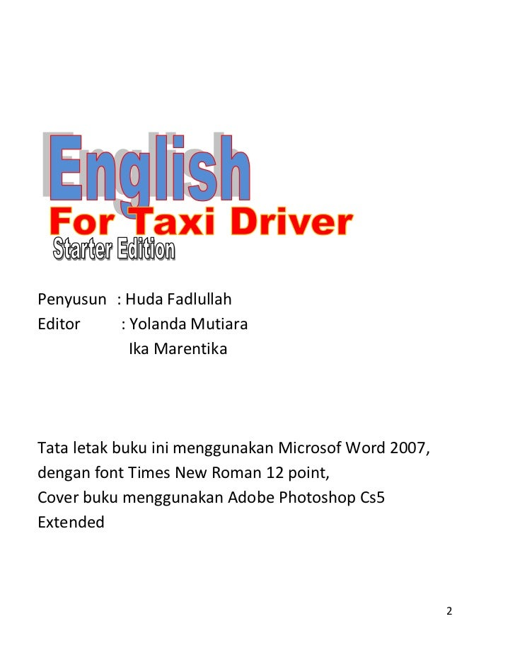 English book for taxi driver Slide 2