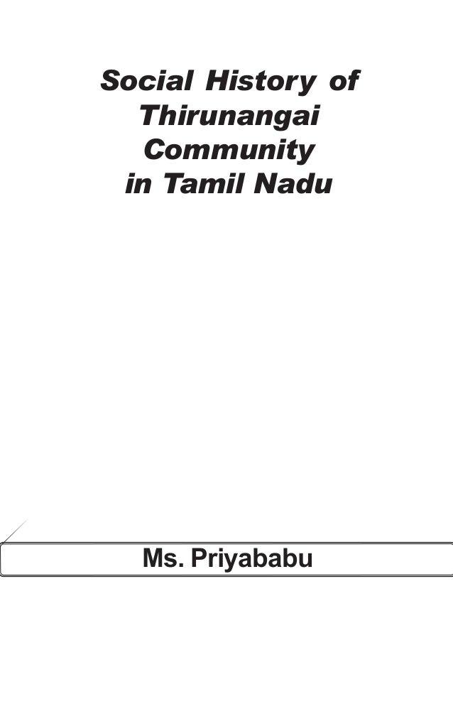 Ms. Priyababu 1 Social History of Thirunangai Community in Tamil Nadu Ms. Priyababu