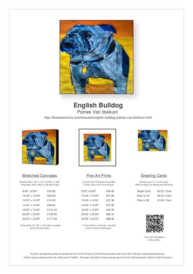 English BulldogPatries Van dokkumhttp://fineartamerica.com/featured/english-bulldog-patries-van-dokkum.htmlStretched Canva...