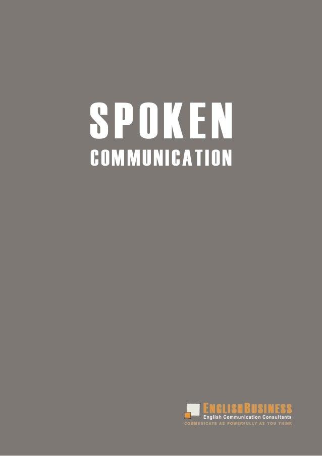 SPOKENCOMMUNICATION