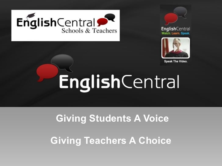 Giving Students A Voice Giving Teachers A Choice
