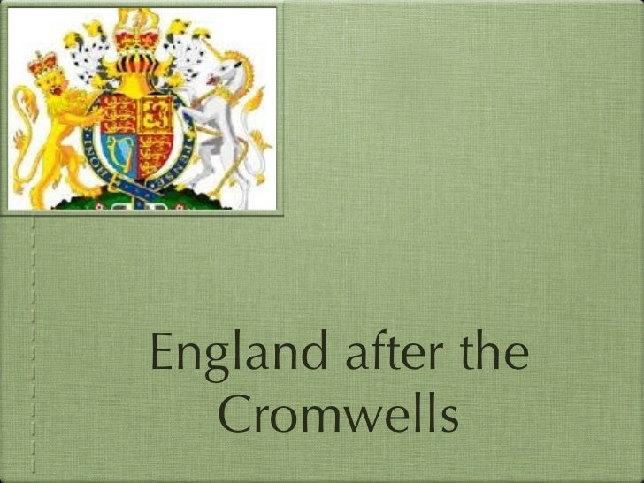 England after the Cromwells