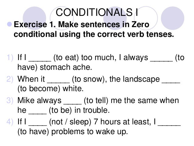 Zero conditional exercises pdf