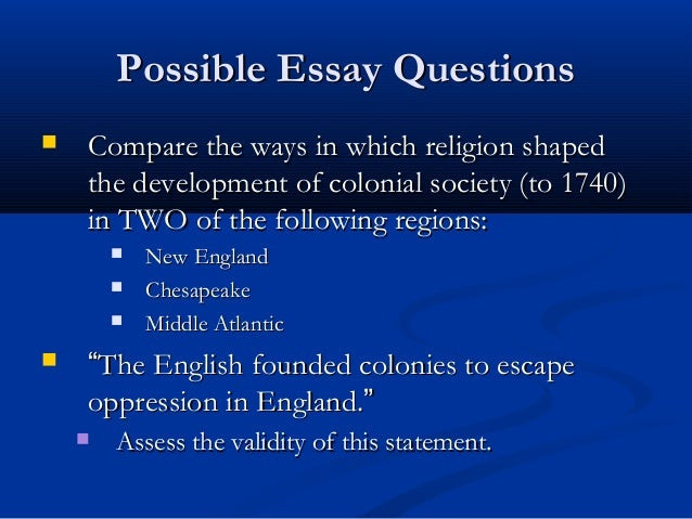 colonization of north america essay View essay - task 1 essaydocx from history c121 at western governors a) explain the reasons for english colonization the english colonized north america for quite a.