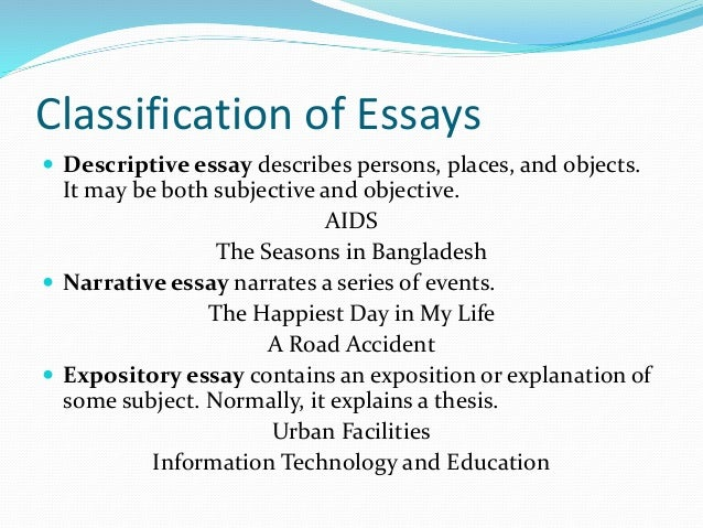 english composition skill 6 classification of essays  descriptive