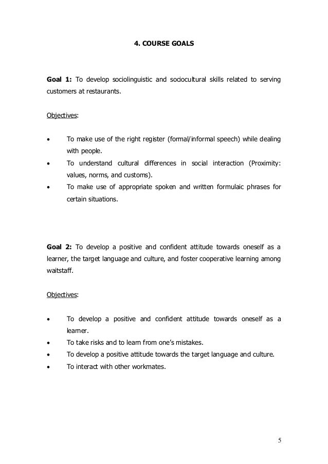 sample goals for english This is an example of a set of goals and objectives at one 90:10 two-way   sufficient oral language skills in english to score as early advanced on the  celdt[1.