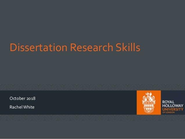 rhul english dissertation