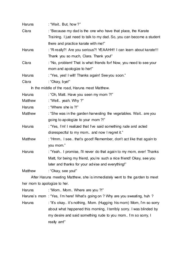 Radio Script Sample In English